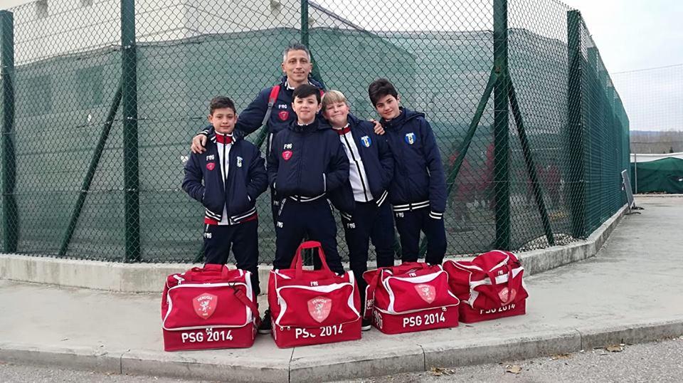 Allenamento a Perugia dei bimbi del PSG